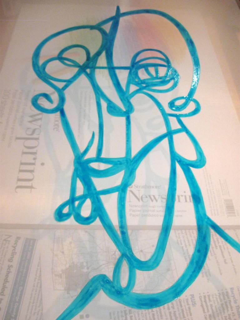 full design in drawing fluid