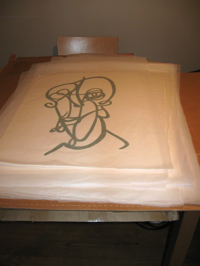 stack of finsihed prints