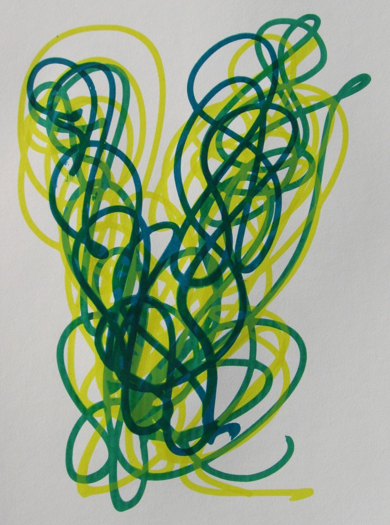 Yellow, green, yellow, turquoise