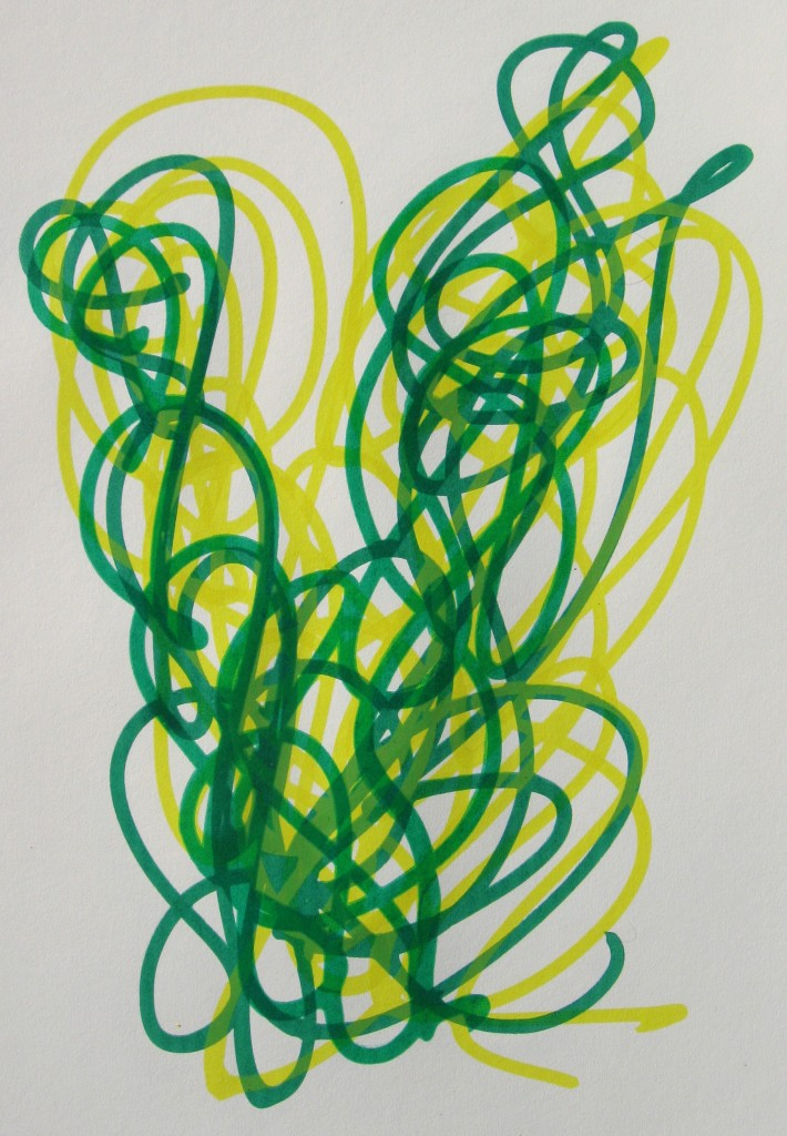Yellow, green, yellow, green