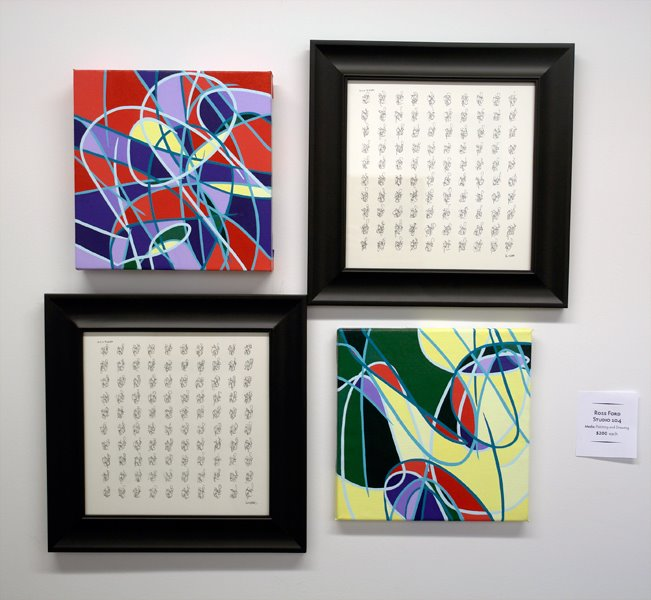 My wall from the 12x12 exhibit at Golden Belt