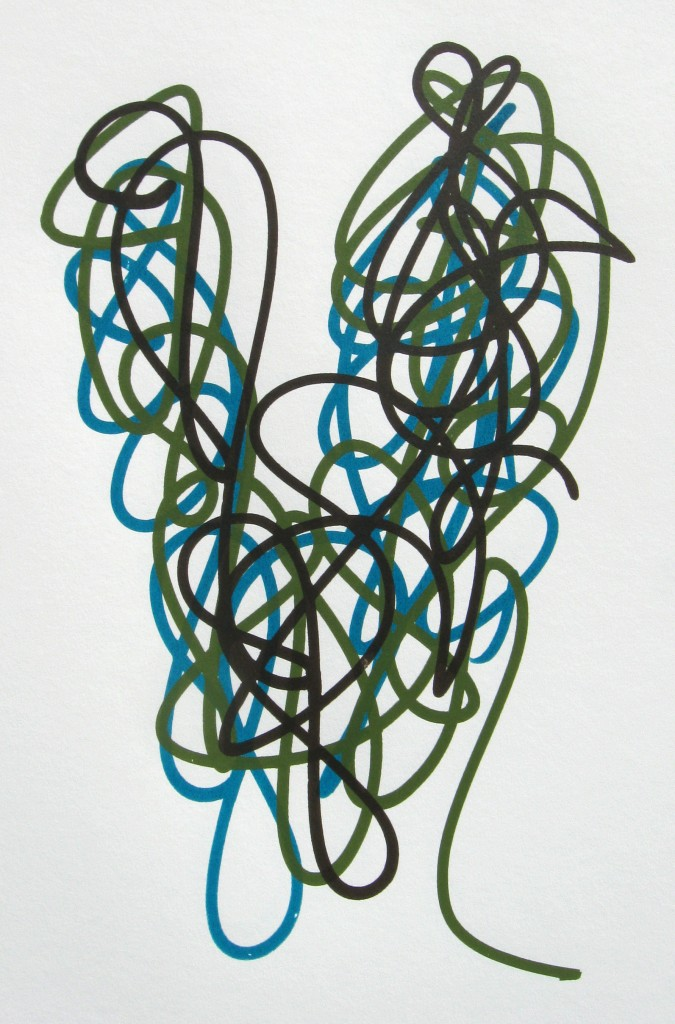 Raw Umber, Chromium Oxide Green, Turquoise (Phthalo)