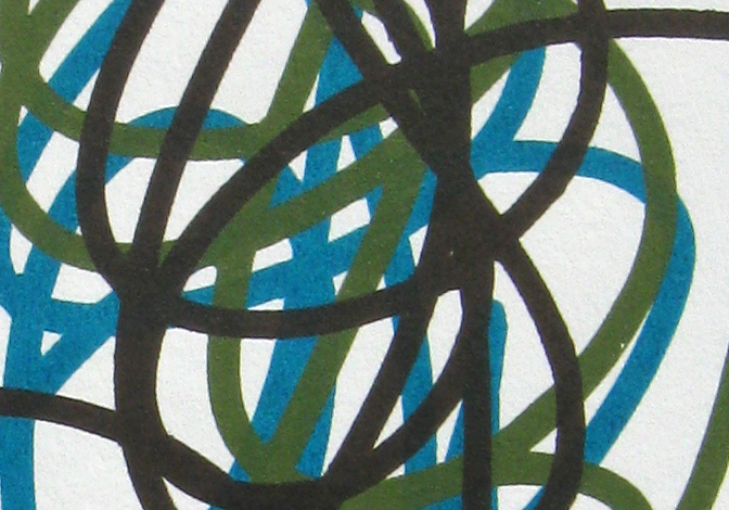 Raw Umber, Chromium Oxide Green, Turquoise (Phthalo) (close up)