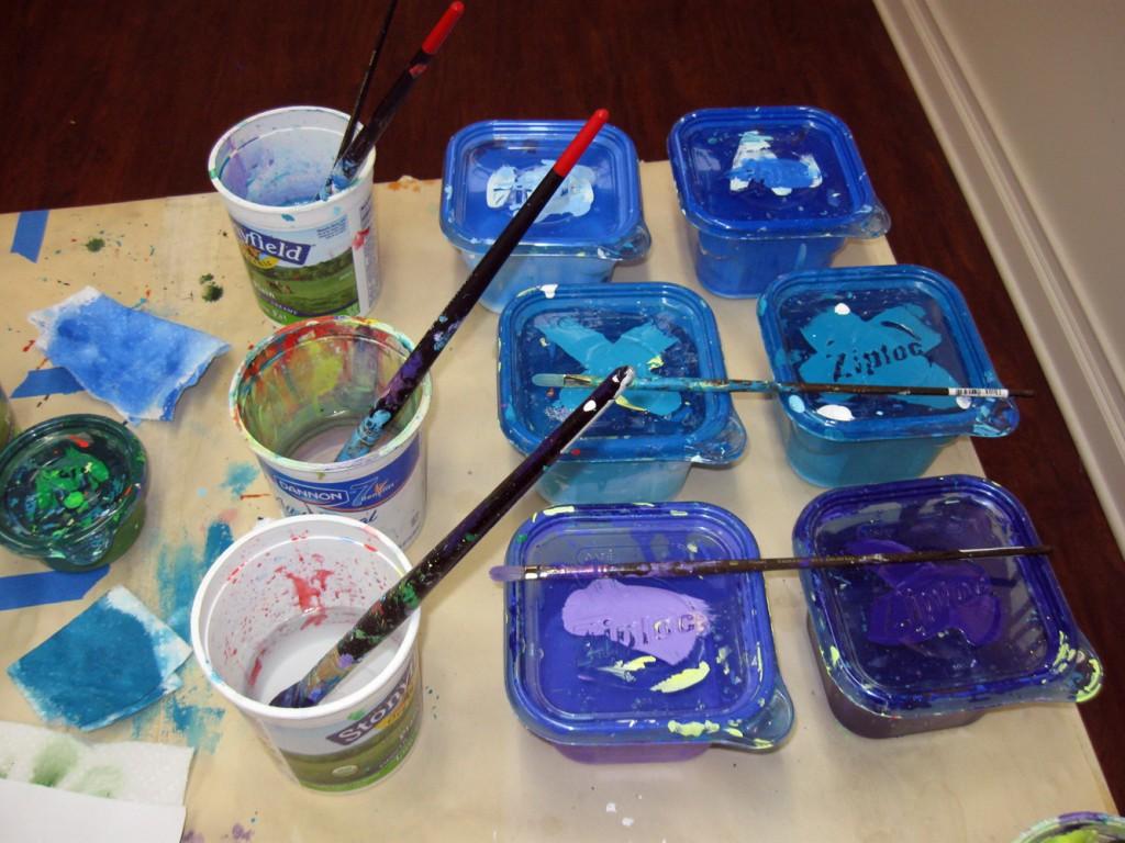 Blue, Turquoise, Purple