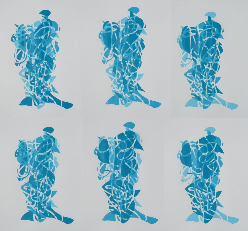 04.15.12 Three Figures in Turquoise, All 6 iterations