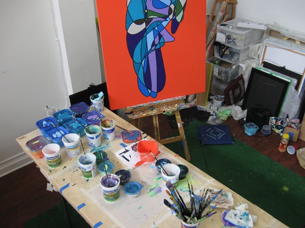 A view from the easel