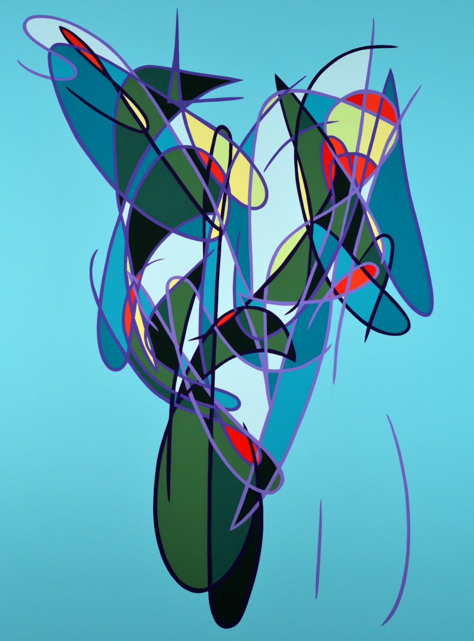 """Number 416 - 48""""x36"""" Acrylic on Canvas"""