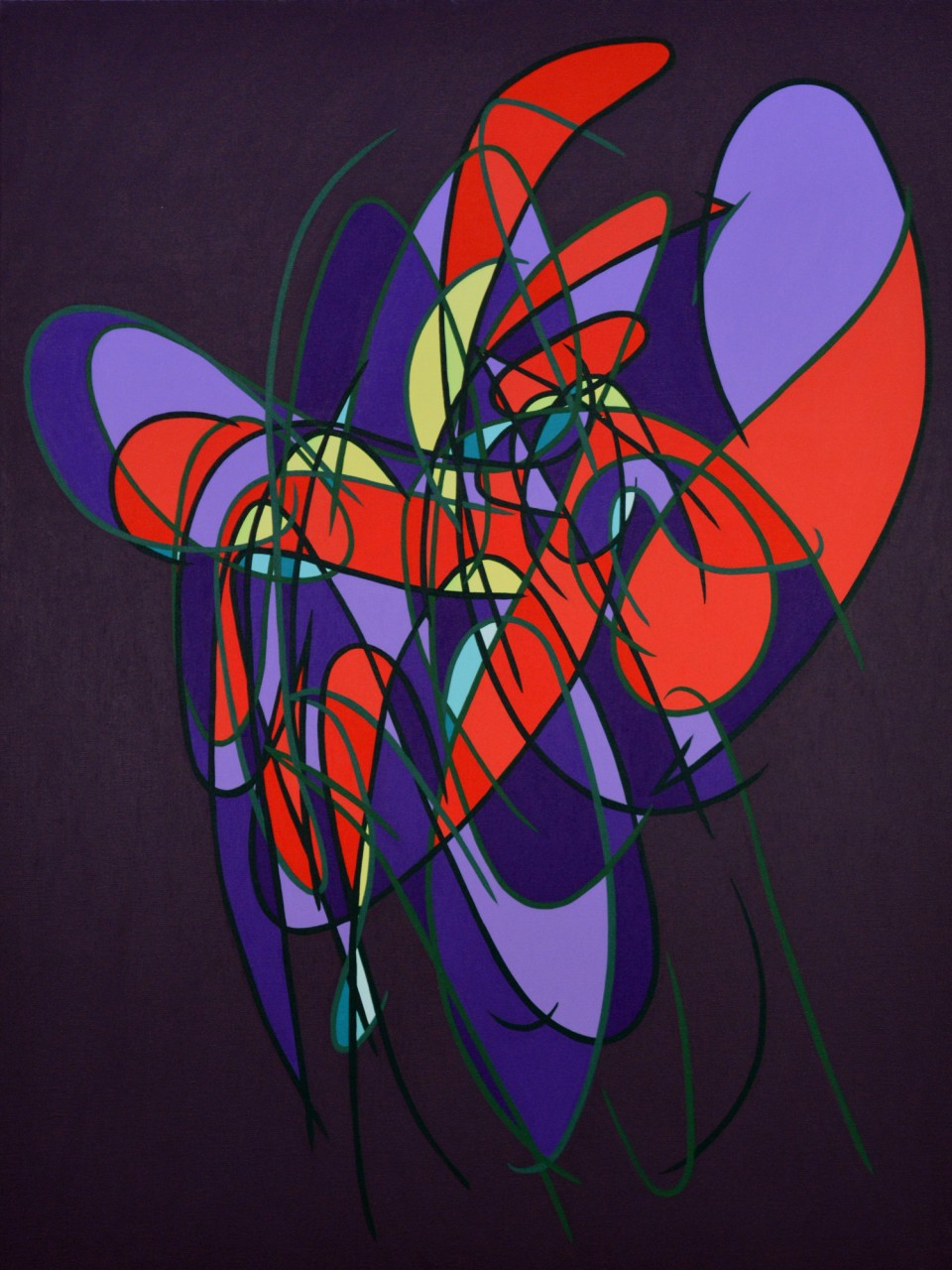 """Number 419 - 48""""x36"""" Acrylic on Canvas"""