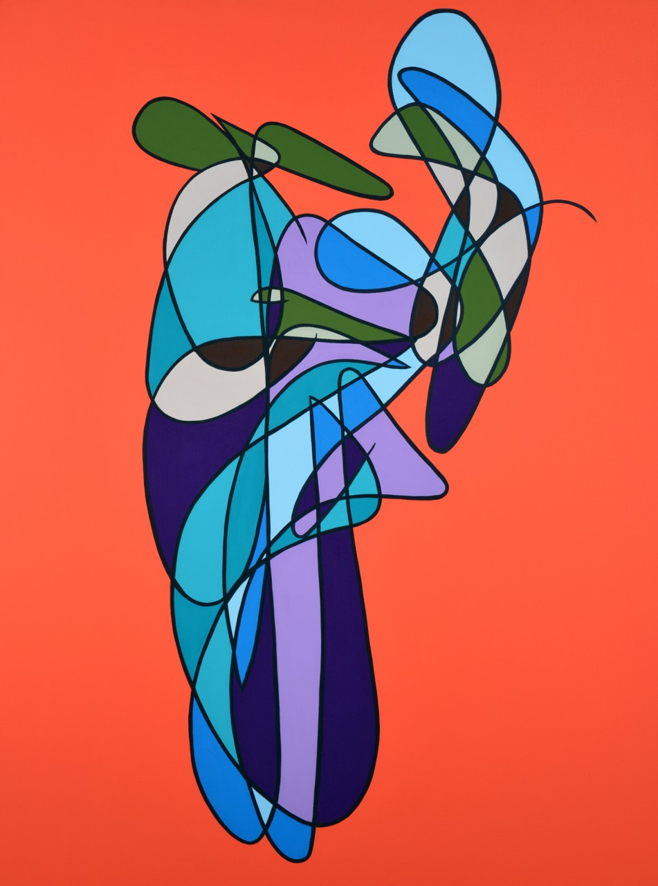 """Number 423 - 48""""x36"""" Acrylic on Canvas"""