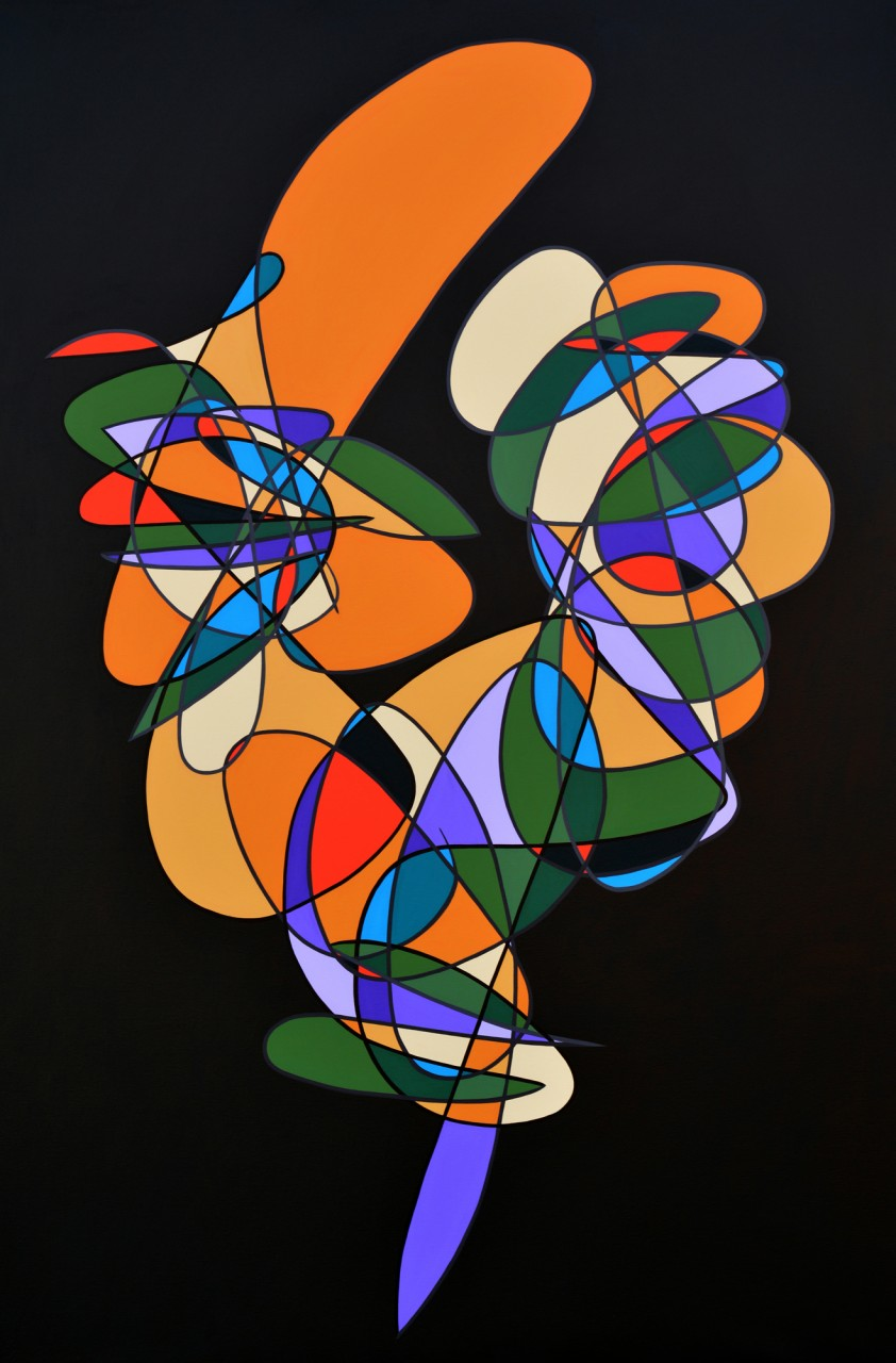 """Number 431 - 90""""x60"""" Acrylic on Canvas"""